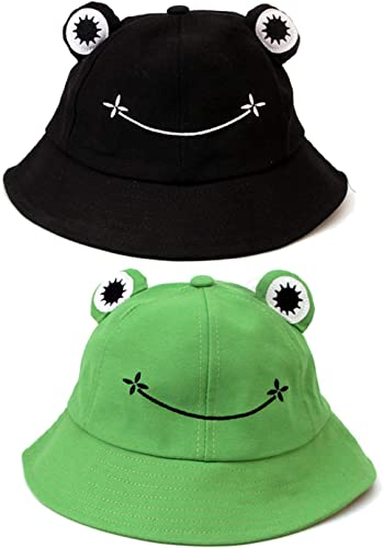 popular 2 Pack Cute Bucket wholesale Hat for Kids Adult Spring Autumn high quality Cotton Sun Hat Cute Animal Printed Outdoor Beach Sun Cap Wide Brim Fisherman Hat, 2 Pack online
