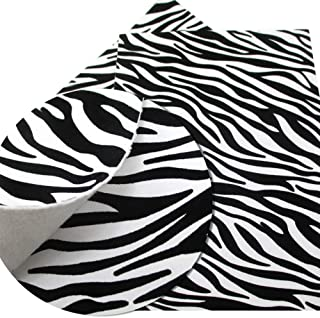 8x13 Inch Zebra Leather Fabric-Leopard Print Fabric-Leopard Leather Fabric Sheets-Cheetah Leather Sheets for Earring Making-Velvet Leather Sheets-Synthetic Leather Fabric for Phone Coverings (Style 2)