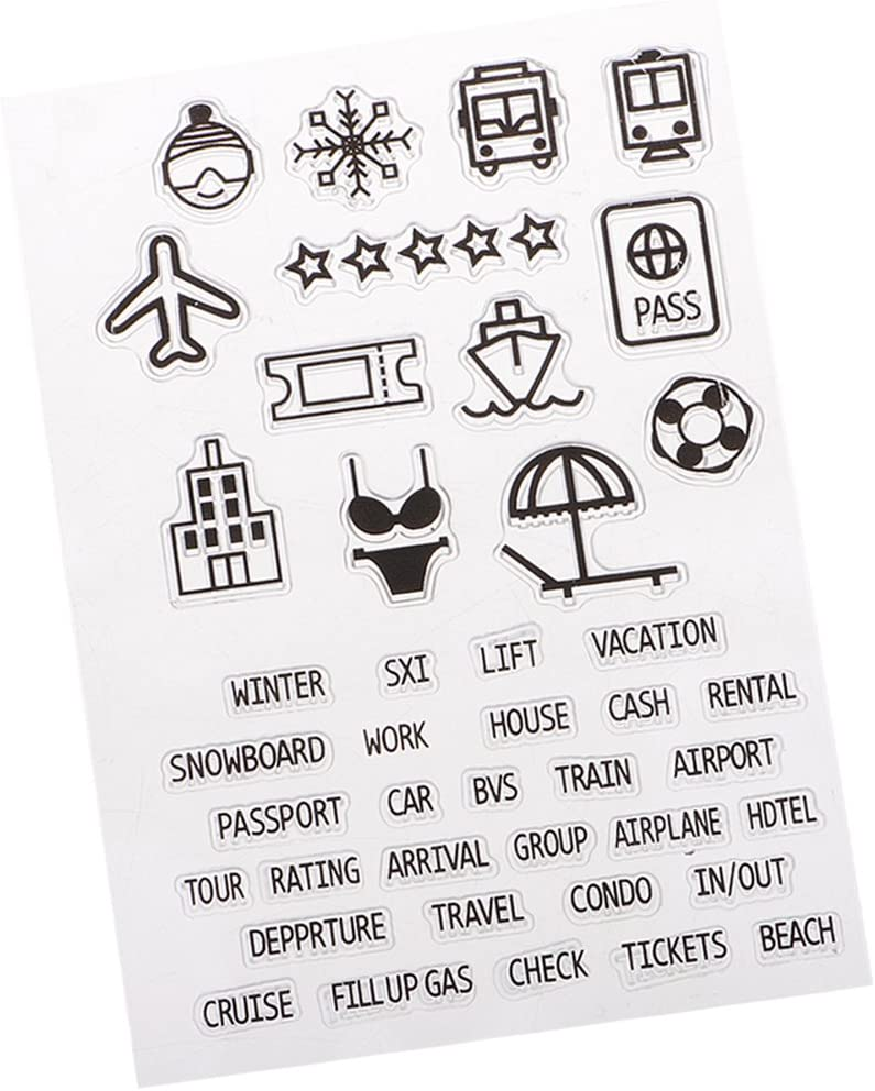 Homyl Perfectly 2021 new Clear Stamp 6 Seal Max 65% OFF Distinctiv Block Rubber