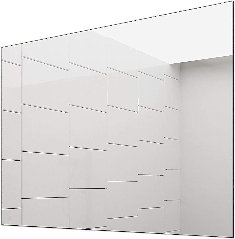 Concept2u Spiegel -Badspiegel -Wandspiegel 5 mm - Kanten fein poliert - inkl. Grünckter Halterungen quer oder hochkant Montage mglich 120 cm Breit x 60 cm Hoch