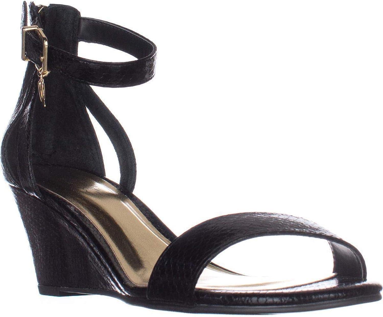 Thalia Sodi kvinnor Areyana Open Open Open Toe Casual Platform, svart Snake, Storlek 7.0  populär