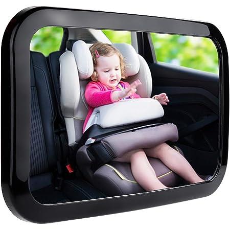 Zacro Rücksitzspiegel Für Babys Babyspiegel Für Autositz Einstellbar Sicherheitsspiegel Babyspiegel Schwarz Baby
