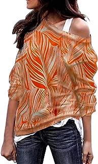 Sudadera para Mujer, Moda Manga Larga Casual Fuera del Hombro Sudaderas Cortos Cuello Redondo Jersey Mujer Otoño Primavera...
