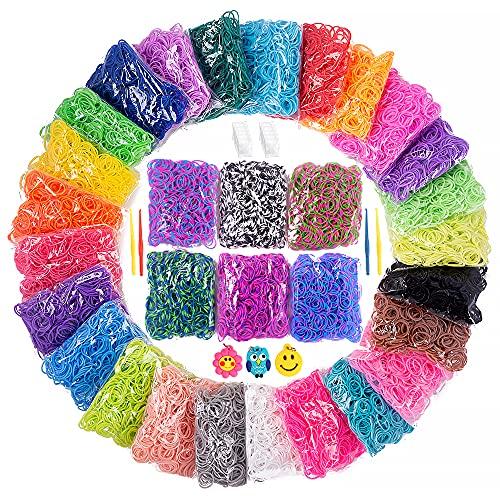 15000+ Loom Rubber Band Refill Kit in 31 Colors, Bracelet Making Kit...
