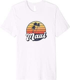 Maui Retro Vintage Distressed Tropical Sunset Premium T-Shirt