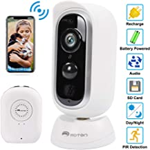 Outdoor Security Camera, Wireless Rechargeable Camera, Battery Powered Surveillance Camera,1080P HD WiFi Camera with Phone App for Home Security with Motion Detection, Night Vision, 2-Way Audio, IP65