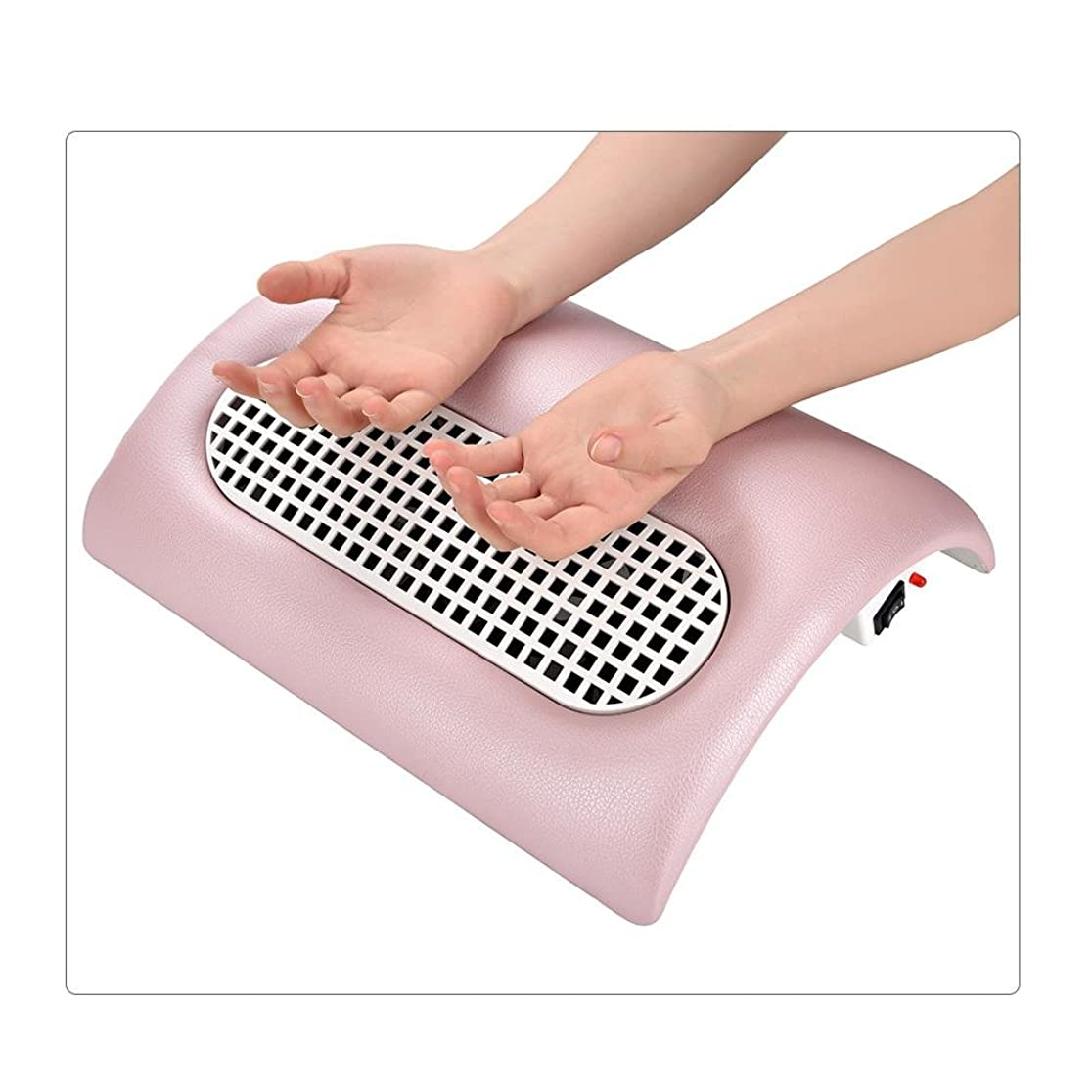 変更可能ぴかぴか和解するネイル(釘)集塵機 ネイルダスト 集塵機  ダストクリーナー  ジェルネイル ネイル機器 (ピンク)