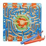 YeahiBaby Puzzle de laberinto magnético de madera Puzzle de laberinto magnético Puzzle juguetes educativos para niños pequeños