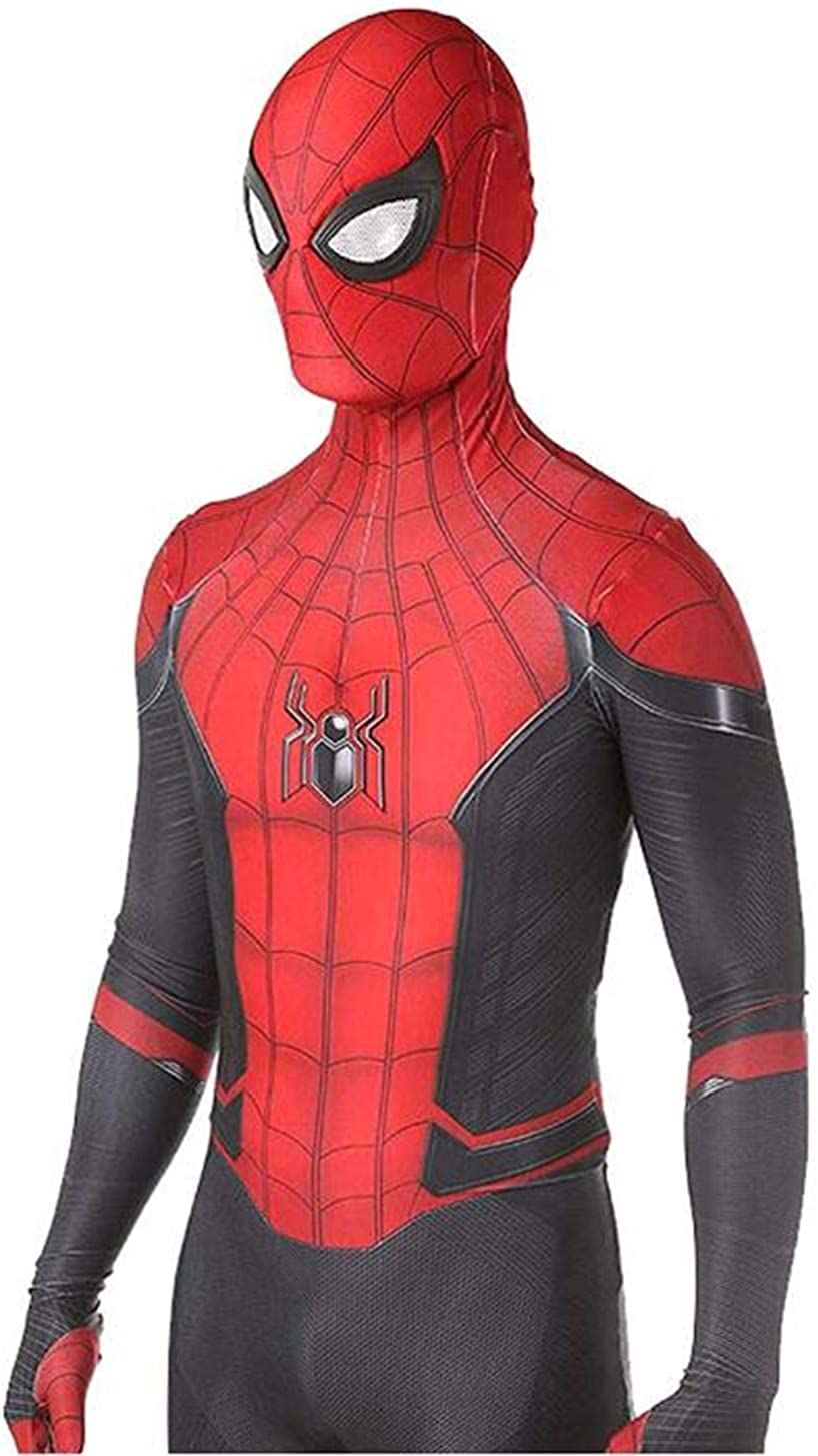 VINMEN Far from Home Spider Man Costumes Adult Kids Unisex Halloween Cosplay Suit