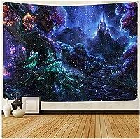 WHUA タペストリーの森の装飾的な壁アートの背景壁掛けリビングルームの装飾スリーピングマット5905 x3937インチ