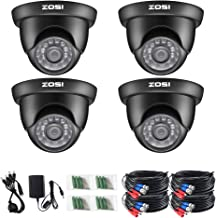 ZOSI 4 Pack 2.0 Megapixel HD 1080P 1920TVL 4-in-1 TVI/CVI/AHD/960H CVBS Indoor Outdoor..