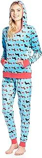 Women's Mink Fleece Hoodie Pajama Set