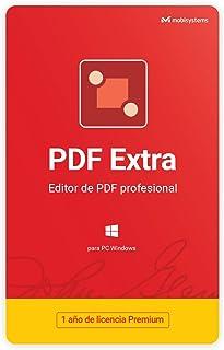 PDF Extra - Editor Profesional de PDF - Edita, Protege, Anota, Completa y Firma archivos PDF - 1 PC / 1 Usuario / 1 año de Suscripción