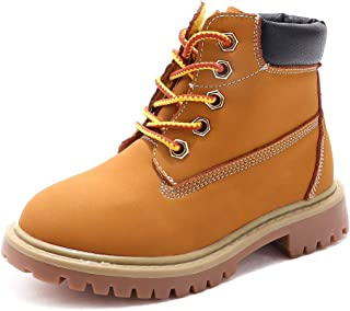 SKOEX Kids Classic Ankle Boot Boys Girls Waterproof Lace Up Workboots