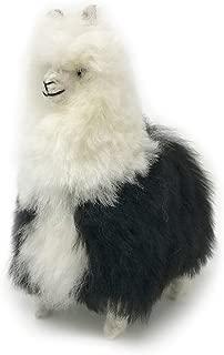 Standing Baby Alpaca Fur Alpaca Cria Figure - Multi Colored 7 Inch