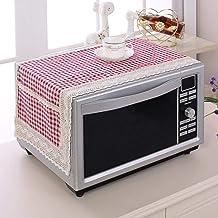 Gouen Colorido algodón y Lino Cubierta de Polvo de microondas Doble Bolsillo Cubierta de Horno de microondas Toalla Easy Clean, AC, 100x35cm