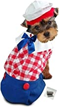 Puppe Love Raggedy Rag Doll Boy Dog's Costume Ensemble with Bags - Available in Dog Sizes XS Thru L