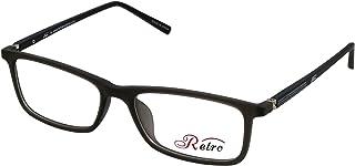 RETRO Unisex-adult Spectacle Frames Rectangular 5202 M.Dark Grey/Black