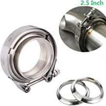 2.5 Inch V Band Clamp with Stainless Steel Flanges - Perfect for Turbo, Downpipes, Exhaust Systems - 2.5in SS Vband, V-Band Flange Kit - For Performance Exhaust Pipes, Downpipe, Down Pipe