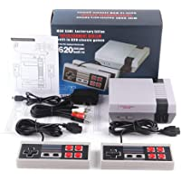 ujhlgtfrsre Retro Game Console, AV Output NES Console Built-in Hundreds of Classic Video Games