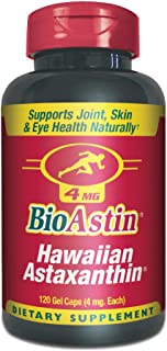 BioAstin Hawaiian Astaxanthin 4mg, 120 Count - Hawaiian Grown Premium Antioxidant - Supports Recovery from Exercise + Join...