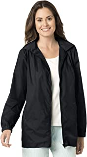 Woman Within Womens Plus Size Zip Front Nylon Jacket