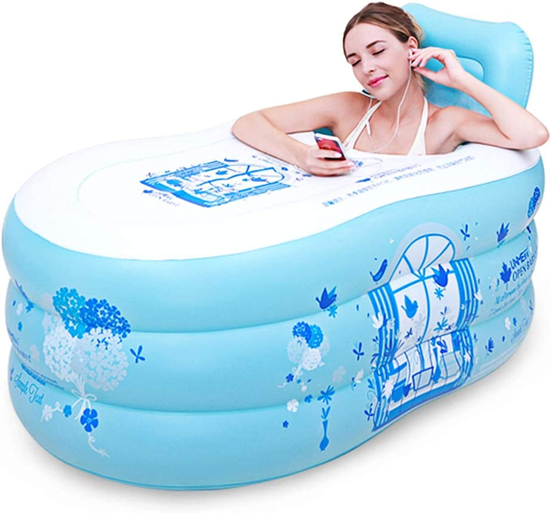 HZTWS Aufblasbare Badewanne faltbares aufblasbares Starkes warmes einzelnes Hauptbad (Farbe   Blau, Größe   S)