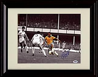 Framed Pele Autograph Replica Print - Spotlight - Team Brazil - World Cup