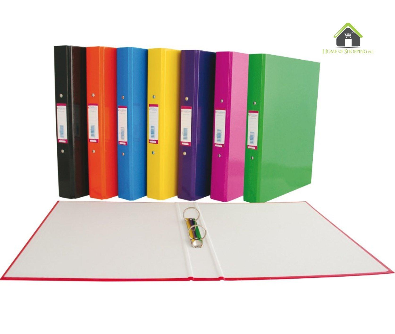 Paquete de 4 carpetas grandes A4 con 2 anillas (extragruesas): Amazon.es: Oficina y papelería