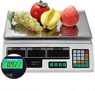 Legou Balanza Cuentapiezas Industrial,Bascula Digital Balanza Digital Electronica para Comercio Pesa Frutera,Balanza de sobremesa 40kg/2g,Verde