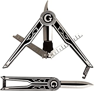 Masonic Folding Pocket Knife - Square & Compass Shape Unique Freemason