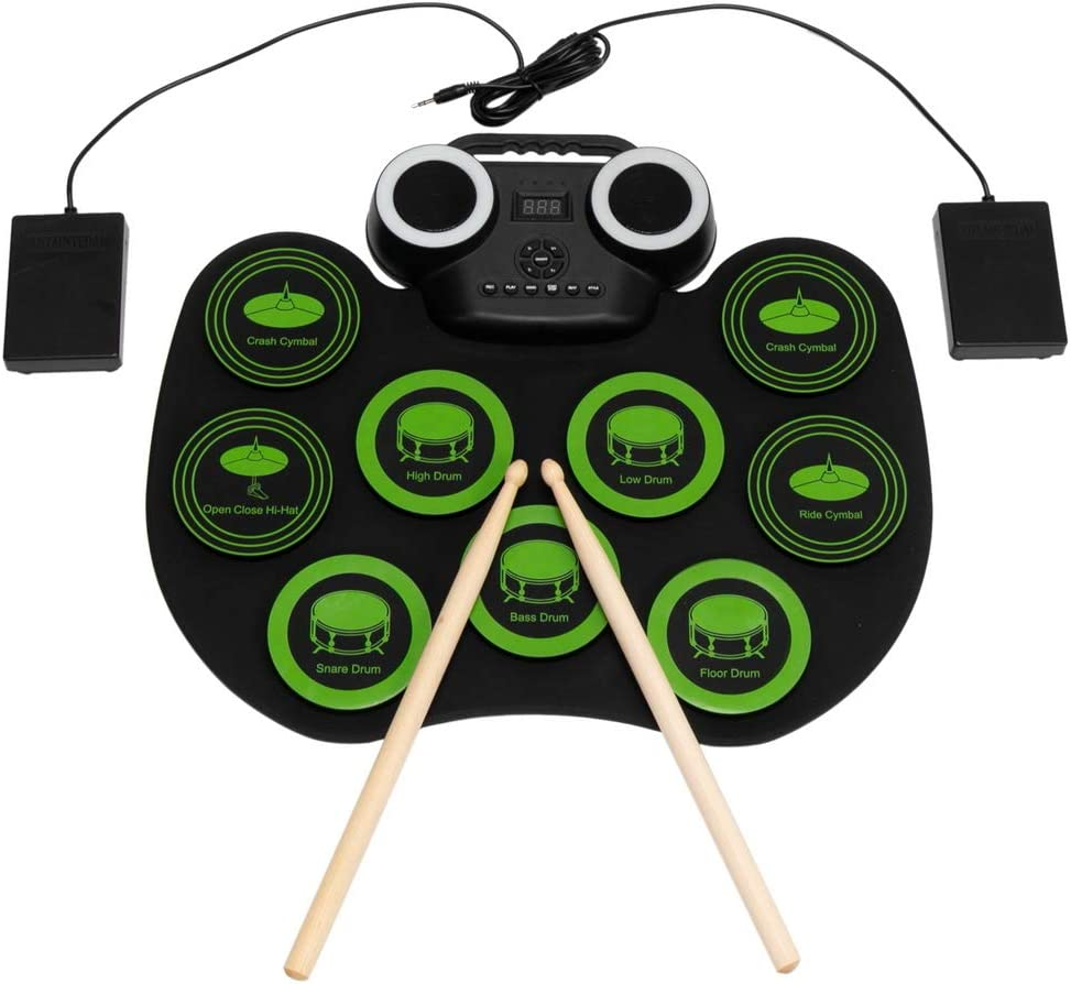 Angelbee Department store Electronic Drum Set 9 Bluetooth Pads National products Portable Pra