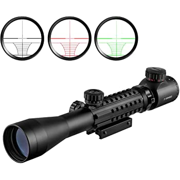 Scoking Tri-Rail RG illuminated 3-9×40EG Mil-dot 可変倍率ライフルスコープ 実銃対応 実物