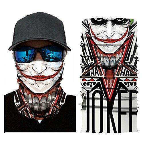 Masque Écharpe Femme Homme Unisexe Chaude Snood Neckerchief Camouflage Crâne Clown Joker Protection Visage Oreille pour Vélo Ski Equitation Cyclisme VTT Moto Randonnée Autres Activités de Plein Air