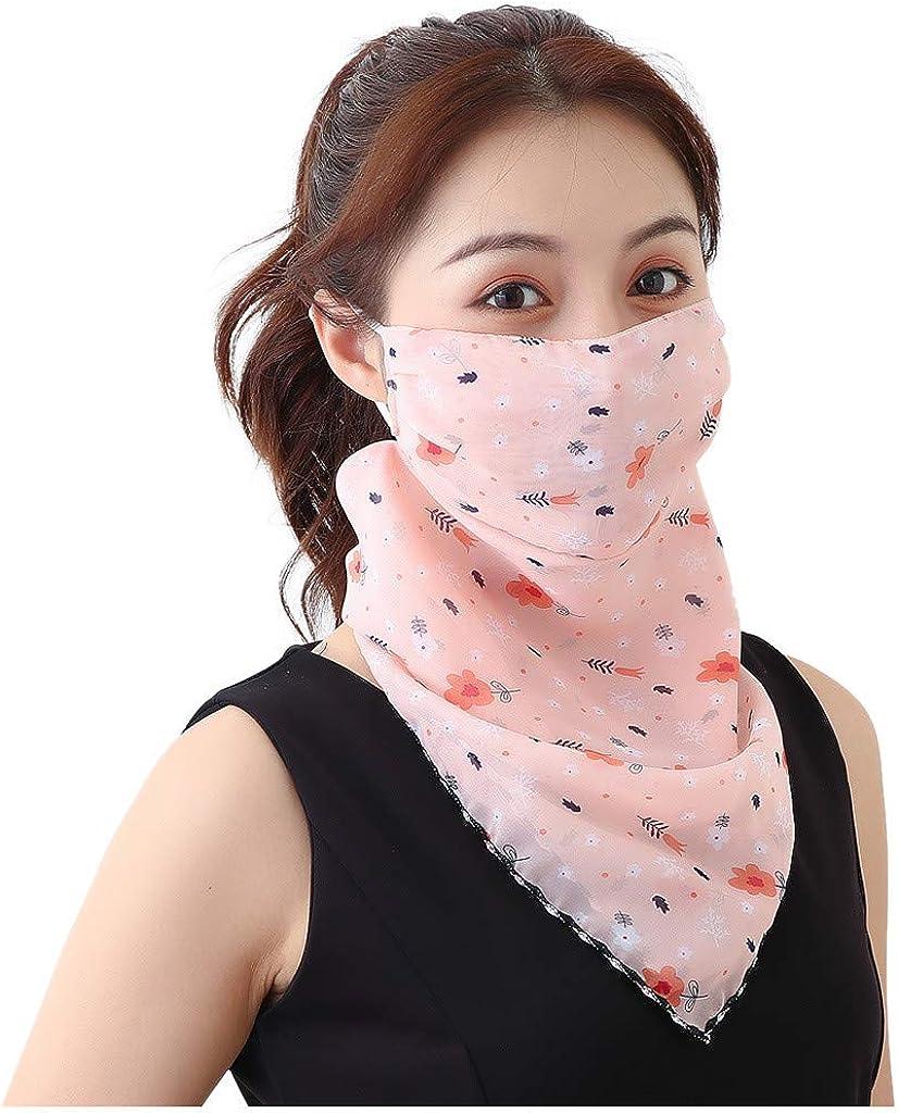 Womens Sun Protection Print Scarf Dustproof Neck Scarf Masks Balaclava Bandanas