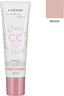Lumene CC Color Correcting Cream 融合了纯北极泉水 - 6 合 1 中等覆盖,适合所有肤质 SPF 20-30 ml/1.0 Fl.Oz。 1 盎司