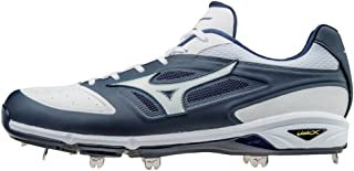 Dominant IC Adult Men's Low Cut Metal Baseball Cleats - Navy & White