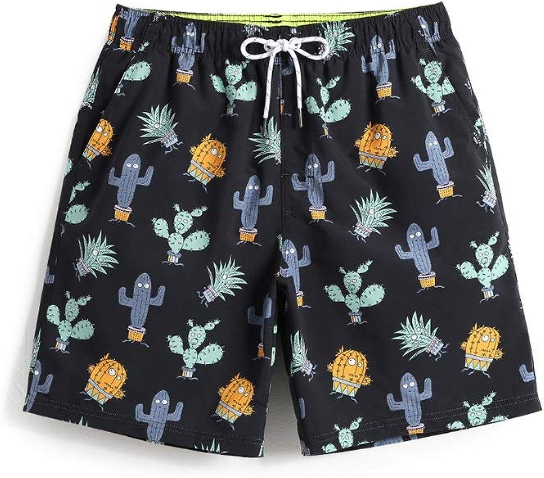 HIAO Sommer Shorts Männer Strand Polyesterfaser Sport Bequem Freizeit Urlaub Schwarz Kaktus Kaktusfeige Muster (größe   3XL) B07PHS11R9  Zuverlässige Leistung