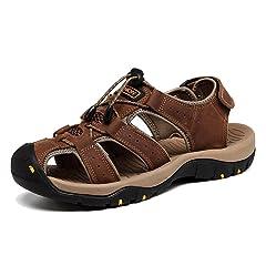 aa2b40559da62 AGOWOO Womens Athletic Beach Hiking Closed Toe Sandals - Casual ...