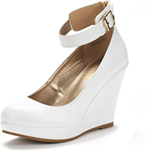 51a52ad85258 DREAM PAIRS Women s Mary Jane Round Toe Platform Fashion Wedges Pumps Shoes