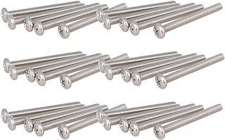 XunLiu 100pcs 304 Stainless Steel Pan Head Phillips Machine Screws M3 9mm