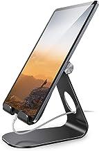 پایه قرص قابل تنظیم ، پایه قرص Lamicall: پایه نگهدارنده دسکتاپ سازگار با تبلت هایی مانند iPad 2018 Pro 9.7 ، 10.5 ، Air Mini 4 3 2 ، Kindle، Nexus، لوازم جانبی، E-Reader (4-13 '') - سیاه