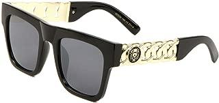 Square Lion Head Chain Medallion Luxury Sunglasses