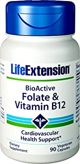 Life Extension Folate & Vitamin B12, 90 Vegetarian Capsules