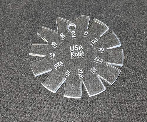 Knife Bevel Gauge 15°-120° Clear Acrylic - USA Knife - Made in America