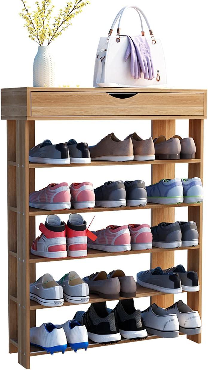 Soges 5-Tier Shoe Rack Nippon Kansas City Mall regular agency 29.5 Shelf Sho inches Wooden Storage