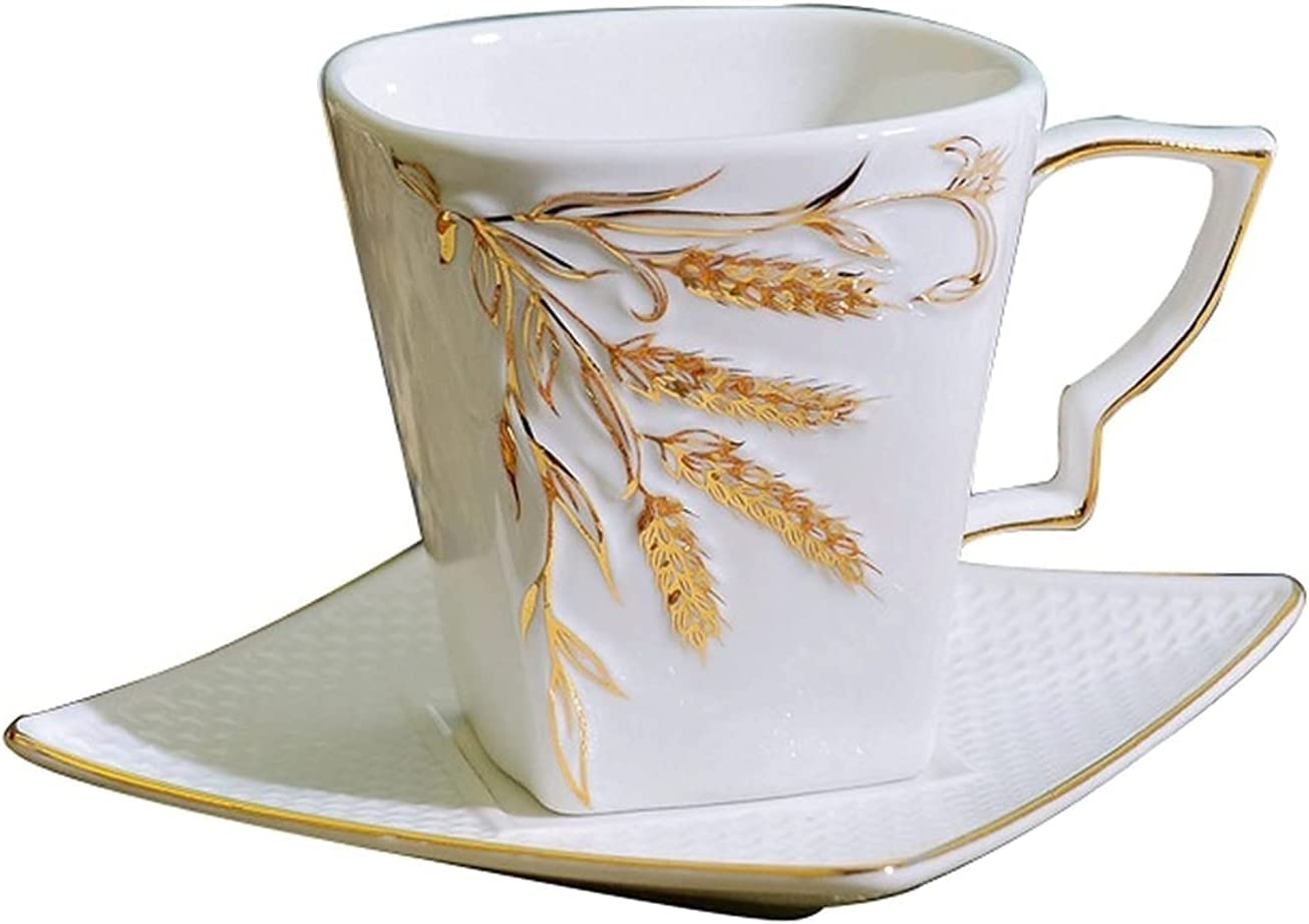 XJSM Ceramic Coffee Super special price Cup and Saucer 200ml wholesale Af Creative Set 6.76oz
