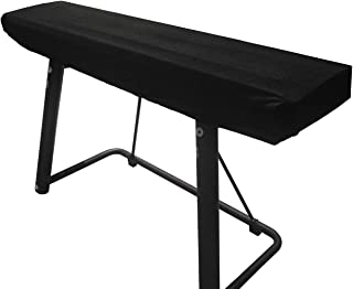 WOMACO Piano Keyboard Cover Stretchy Plush Velvet Dust Cover