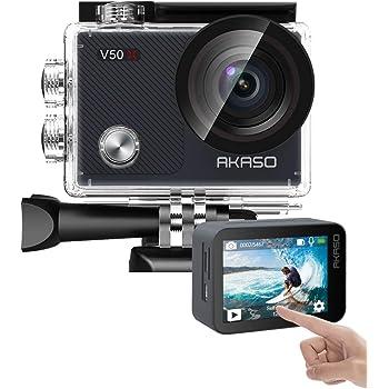 【進化版】AKASO V50X アクションカメラ 4K 20MP解像度 水中カメラ 外部マイク対応 4倍ズームレンズ 1350mAh 手ブレ補正 Wi-Fi SONYセンサー ウェアラブルカメラ 小型 30M防水 リモコン付き HDMI出力 豊富なアクセサリー アクションカム 170度広角 HDMI出力 ACTION CAMERA 12月保証期間