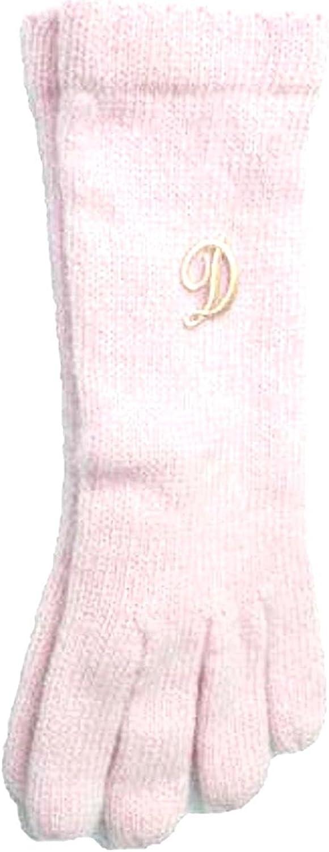 Pink Color Angora Gloves Trimmed with Customer Chosen Monogram Letter